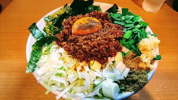 「【限定】我流豚星。台湾混蕎麦(大蒜・ホアジャオ)+カレー」@豚星。の写真