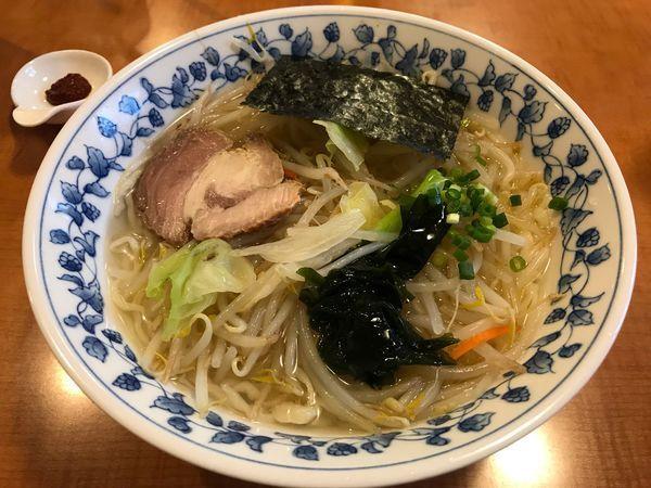 「冷やししお野菜ラーメン  700円」@手打ちラーメンひろや食堂の写真