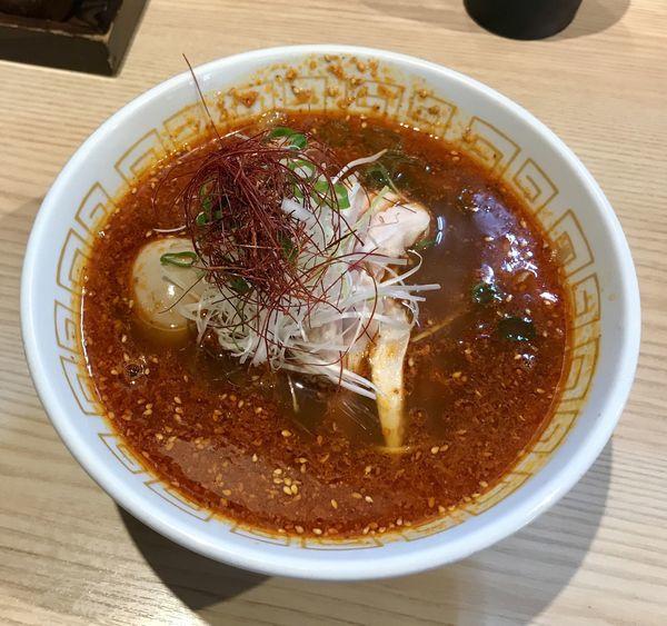 「酸辣湯麺 白湯つけ麺 ネギ塩焼豚丼」@中村麺三郎商店の写真