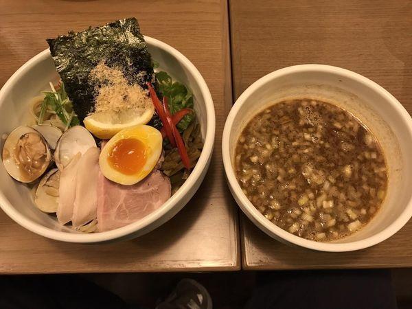 「鶏と蛤の濃厚つけ麺 大盛」@むぎとオリーブ さいたま新都心店の写真