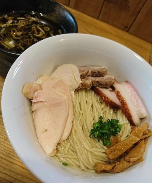 「柿酢のつけ麺+MIX増し(1050円)」@麺屋KABOちゃんの写真