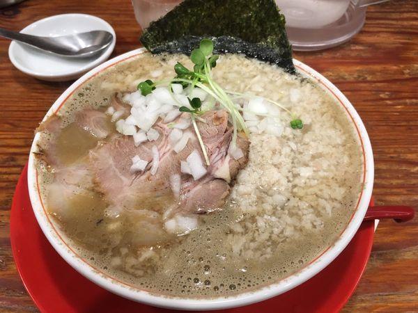 「煮干鬼背脂」@つけめんTETSU さいたま特別版の写真