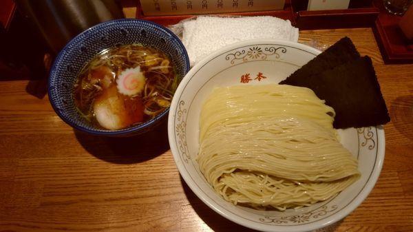 「清湯つけそば...830円+大盛り100円」@神田 勝本の写真