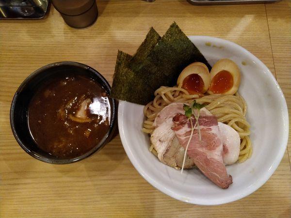 「特製豚骨魚介つけ麺」@常陸 景虎の写真