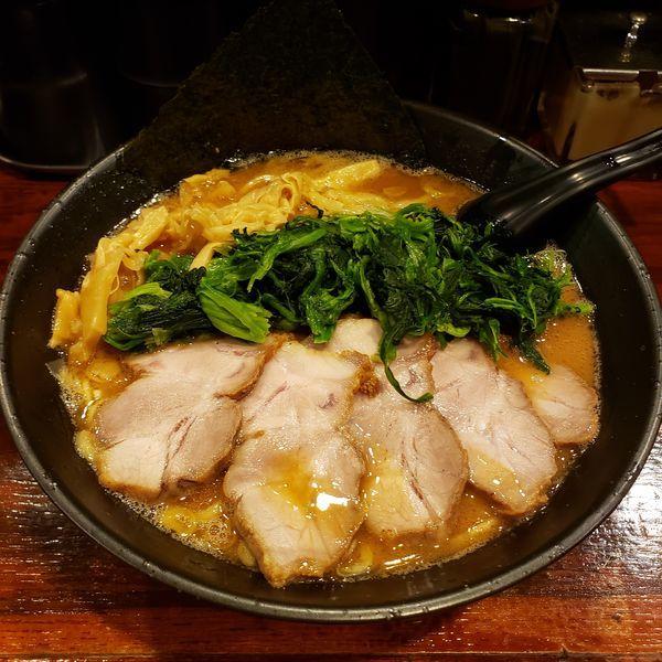 「大和田チャーシューメン+青菜+麺大盛り」@麺屋 大和田の写真