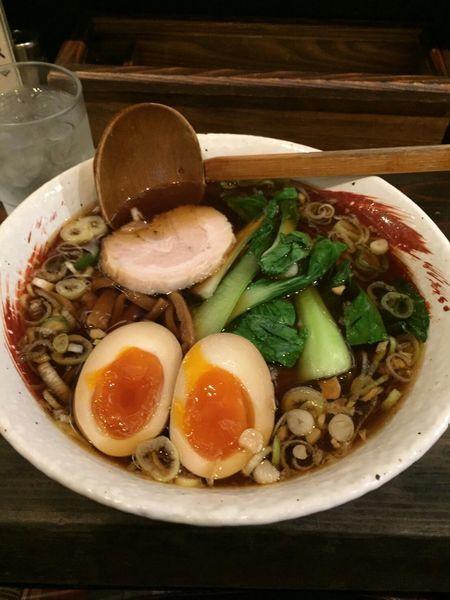 「煮卵らーめん 750円」@らーめん 中々の写真