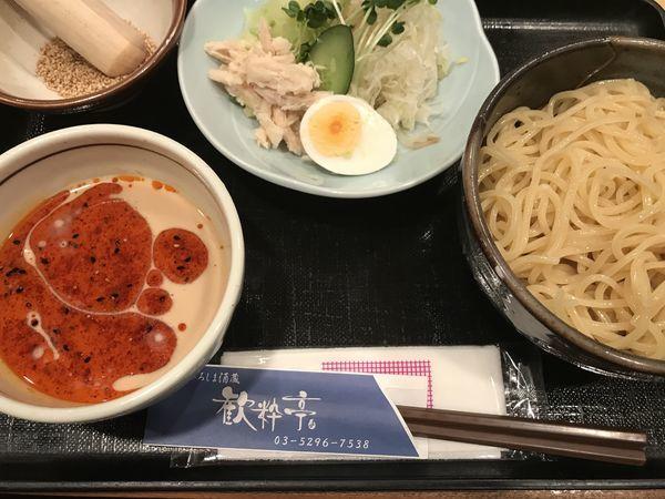 「濃厚ごまだれつけ麺」@ひろしま酒蔵 歓粋亭の写真