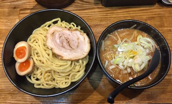 「辛味噌つけめん+チャーシュー+味玉」@麺処 花田 上野店の写真