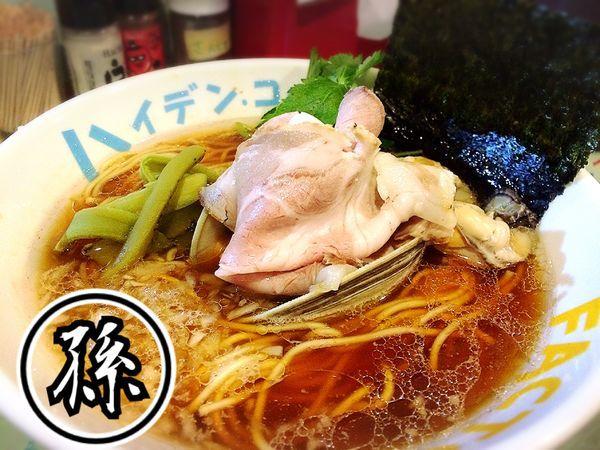 「魚貝煮干し中華そば¥780」@つけ麺屋 丸孫商店の写真