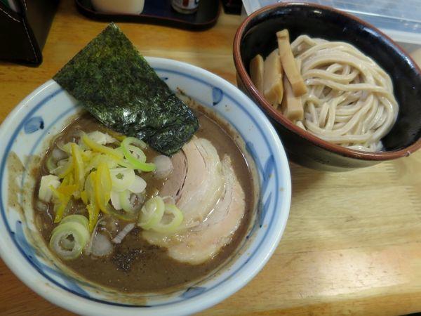 「つけ麺(小) 850円 ※メンマ」@中華そば つけ麺 村岡屋の写真
