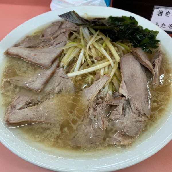 「ネギチャーシューメン1050円」@ラーメンショップ 石川店の写真