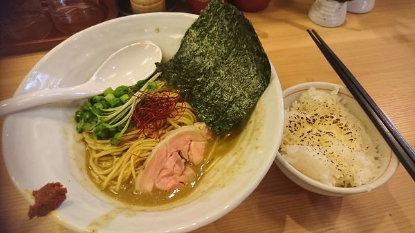 「超濃厚鶏牡蠣ソバ(限定)」@辛麺 真空 相模大野店の写真