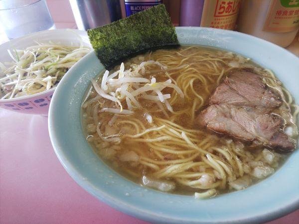「ラーメン&ネギ丼」@ラーメンショップ 緑ヶ丘店の写真