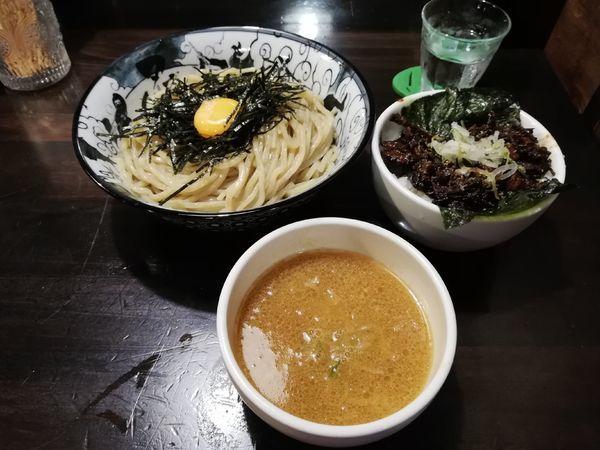 「雲丹つけ麺(限定)+α」@らーめん こてつの写真