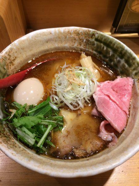 「味玉入り焼きあご塩らー麺920円」@焼きあご塩らー麺 たかはし 上野店の写真