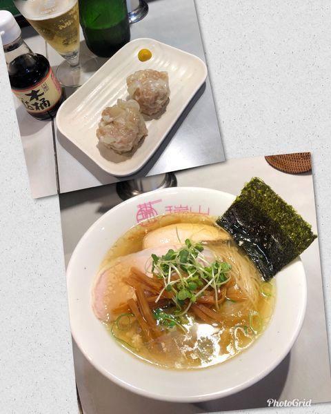「しおそば&イベリコ豚の焼売¥900 with beer」@中華蕎麦 瑞山(ZUIZAN)の写真