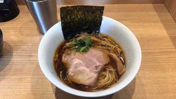 「季節の出汁そば(醤油)+シュラスコ丼(小)」@Handicraft Worksの写真