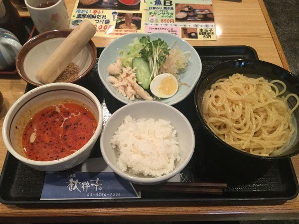 「濃厚胡麻だれつけ麺(¥1,000)」@ひろしま酒蔵 歓粋亭の写真