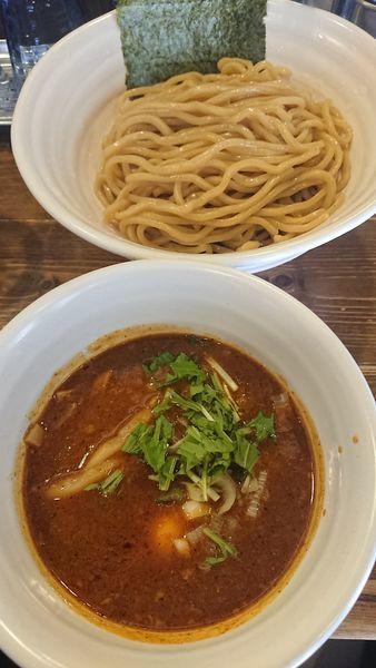 「ベジポタ辛つけ麺」@ベジポタつけ麺 えん寺の写真