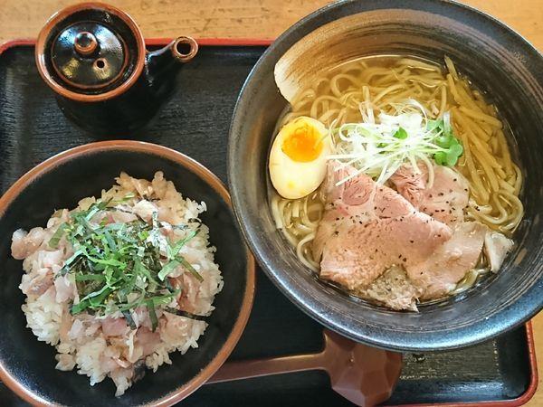 「【限定】アジらーめん タタキ丼セット ¥870」@和風らーめん 凪の写真