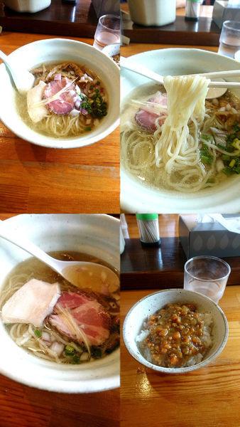 「『カマス煮干しの冷やしそば 塩(¥800)』」@麺堂HOMEの写真