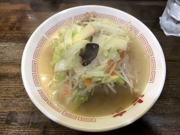 「タンメン(680円)+水ギョーザ(200円)」@中華そば 光来の写真