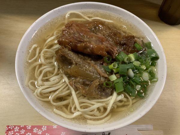 「ソーキそば 390円」@田舎 公設市場南店の写真