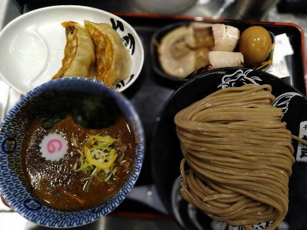 「全部のせつけ麺大+心の味餃子二個」@松戸富田麺絆の写真
