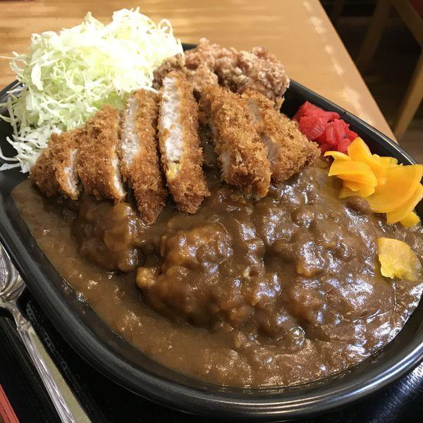 「ミックスカレー(¥1,000)」@どん八食堂の写真