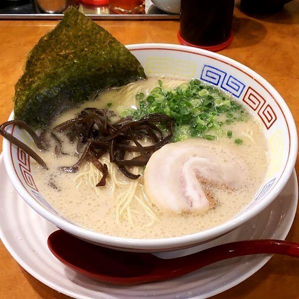 「白豚骨ラーメン(白湯)」@つけ麺中華そば 節 本八幡店の写真