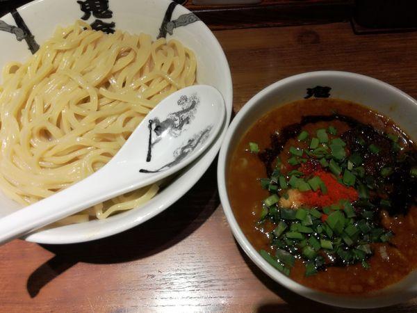 「カラシビつけ麺:900円(大盛無料)」@カラシビつけ麺 鬼金棒の写真