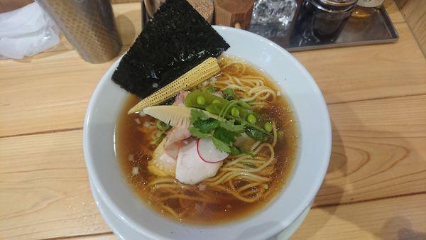「煮干中華SOBA醤油」@銀座 篝 アトレ浦和店の写真