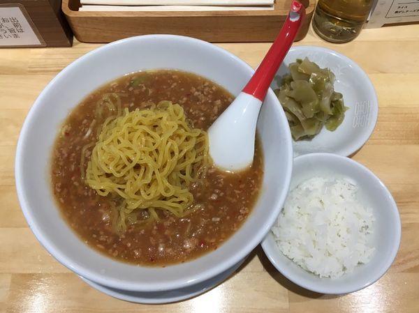 「冷やしタンタン麺+ザーサイ盛+サービスライス」@小田原タンタン麵たかみの写真
