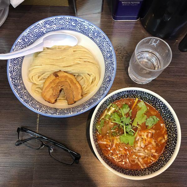 「スパイスつけ麺」@豚骨一燈 立川の写真
