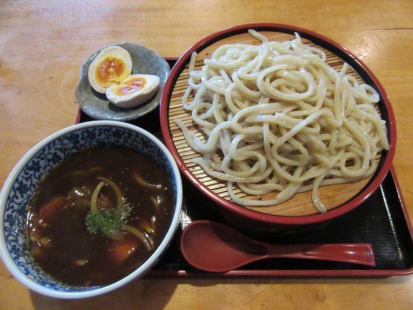 「デミグラスつけ麺(850円)+味玉100円」@牛骨ロックの写真