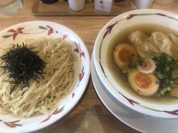 「特製つけ麺 塩 手揉み太麺(1050円)」@らーめん天神下 大喜の写真