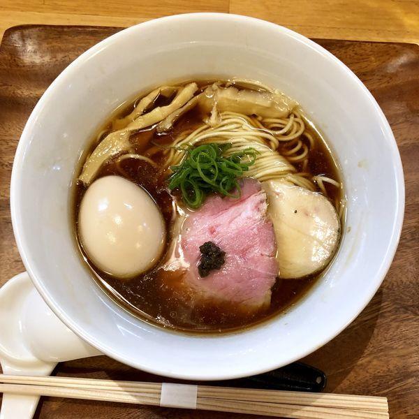 「ポルチーニ醤油らぁ麺¥800+煮玉子¥100」@IRUCA-Tokyo-の写真