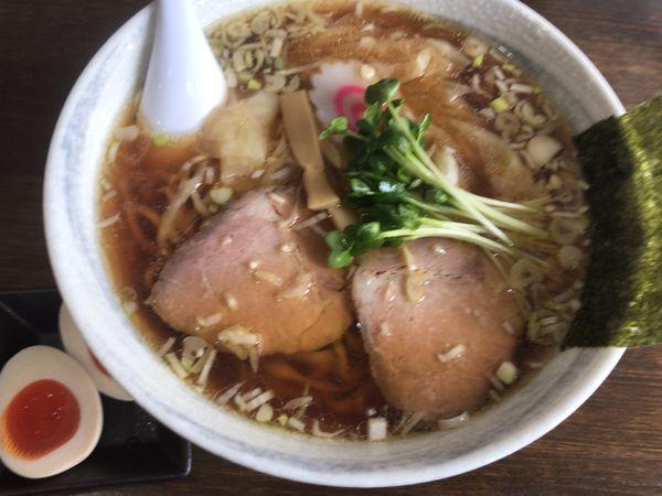 「ワンタン麺850円+味玉クーポン無料」@かこい食堂の写真