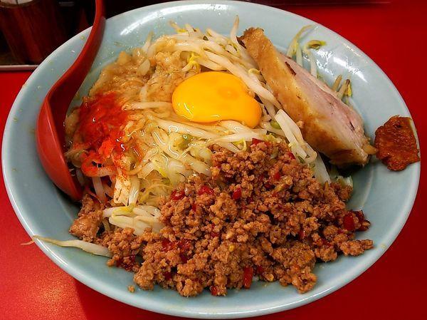 「中汁なし麺」@立川マシマシ 足利総本店の写真
