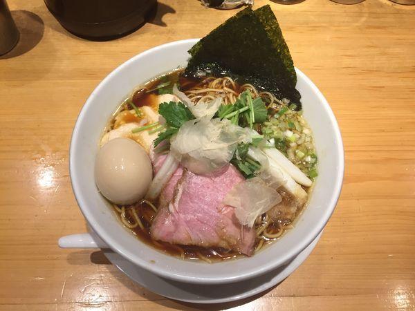 「特製鶏SOBA 大盛」@Ginza Noodles むぎとオリーブの写真