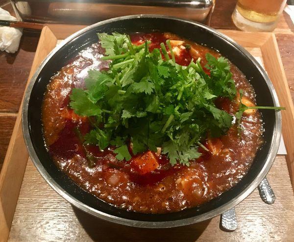 「全とろ麻婆麺+パクチー」@新潟 三宝亭東京ラボ 中目黒店の写真