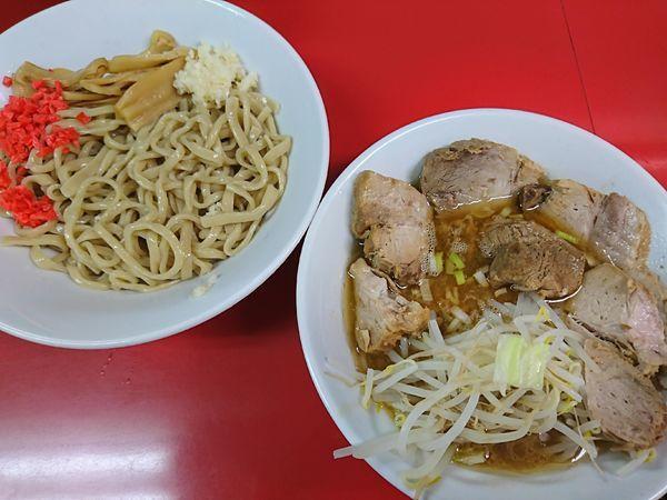 「つけ麺+豚マシ(1000円)」@ラーメンハイキックの写真