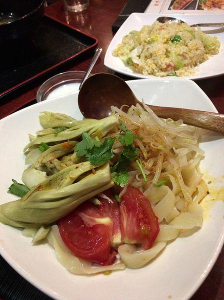 「冷やし茄子刀削麺 900円」@朝霞の写真