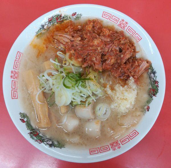 「辛いホルモン麺」@ぬ〜どる専門店 バカみたいに愛してたの写真