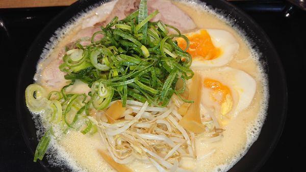 「鶏白湯味玉」@天天有 大阪城店の写真