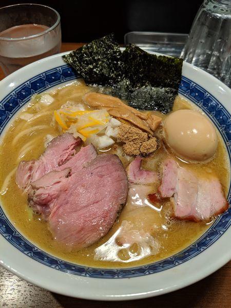 「特製濃厚豚骨魚介ラーメン」@麺処 はら田の写真