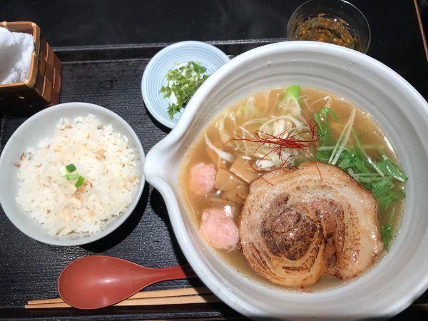 「銀笹ラーメン塩+鯛飯」@麺処 銀笹の写真