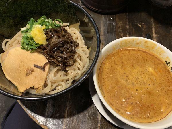 「濃厚辛みそつけ麺中 880円」@麺や偶 もとなり 銘苅店の写真