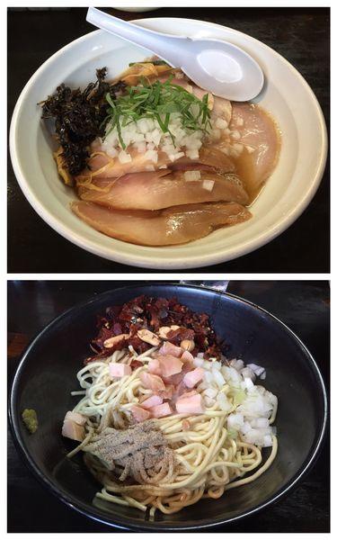 「にぼしらーめん+トッピングチャーシュー+和え玉」@濃麺 海月の写真
