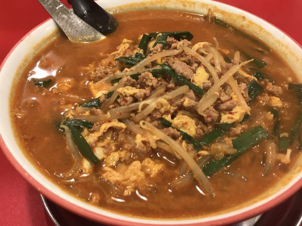 「から麺(1倍)」@駅前中華そば すみたに 仙台分店の写真
